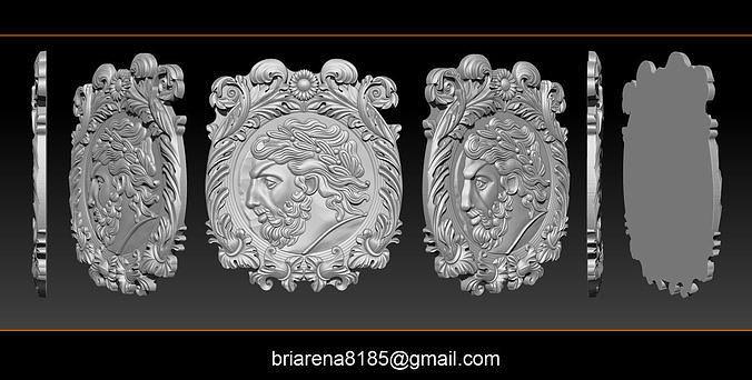 Roman coin frame