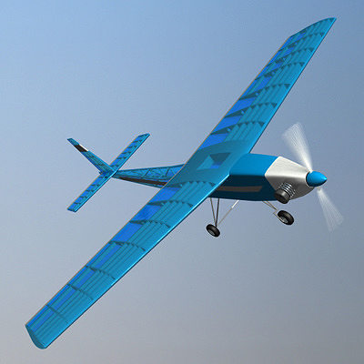 rc airplane 3d model lwo lw lws 3