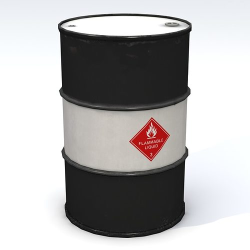 flammable 55 gallon drum 3d model obj 3ds fbx lwo lw lws blend mtl 1