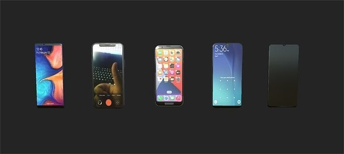 5 phone pack - PBR ready