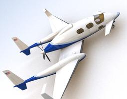 scifi future general aviation 3d model