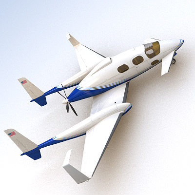 scifi future general aviation 3d model 3ds lwo lw lws 1