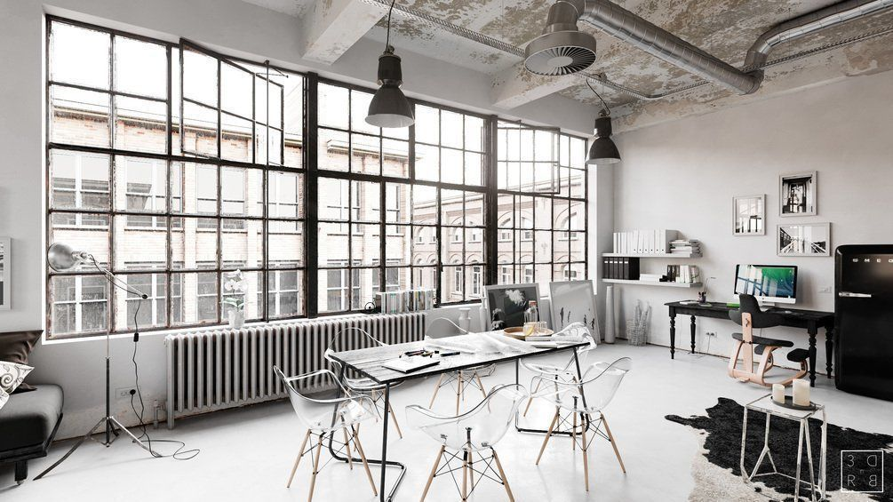 Workplace Interior Cinema4D and Corona Renderer