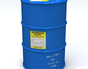 Hazardous 55 Gallon Drum 3D model