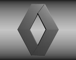 3d model renault logo