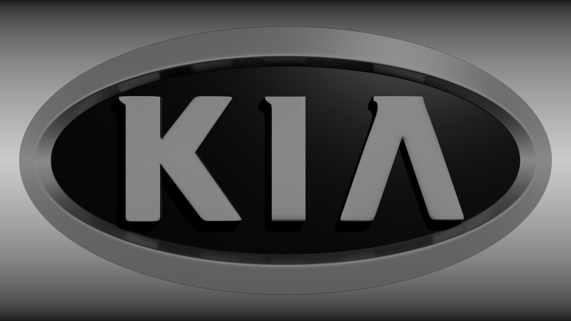 Kia Logo 3d Model Obj Blend Mtl 2