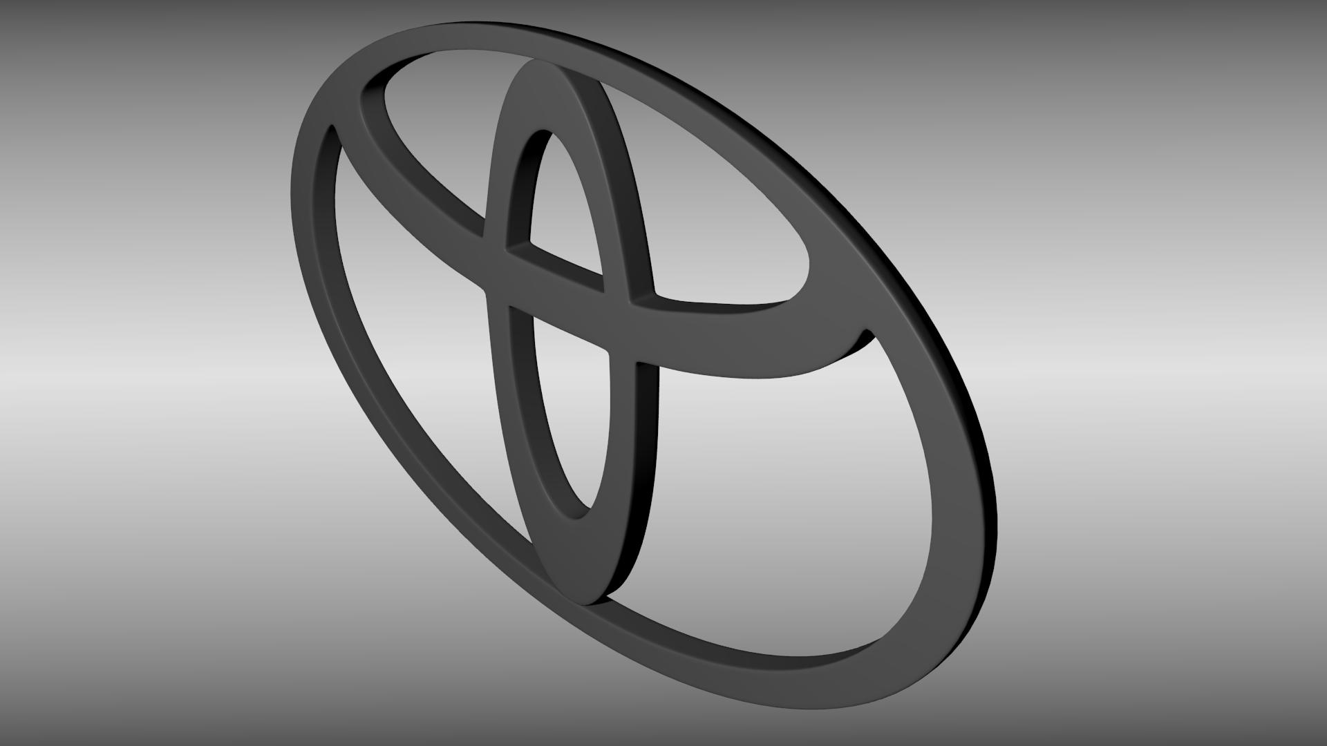 toyota logo 3d model obj blend mtl 3