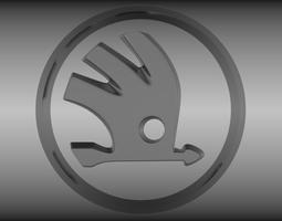 3d model skoda logo