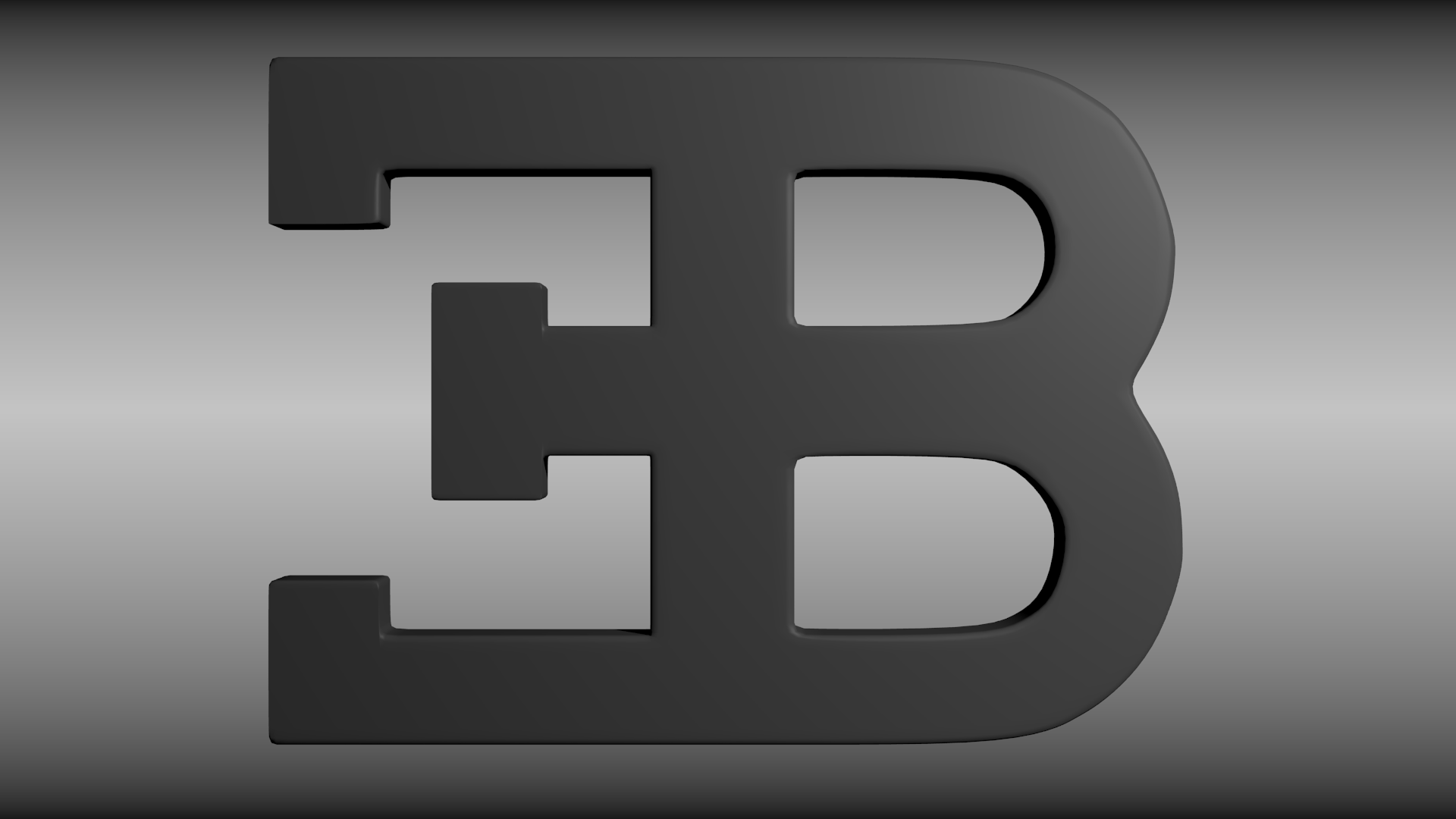 Bugatti Logo 3d Model Obj Blend Mtl Cgtrader