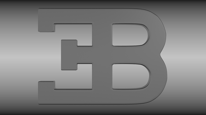 bugatti logo 3d model obj blend mtl 1