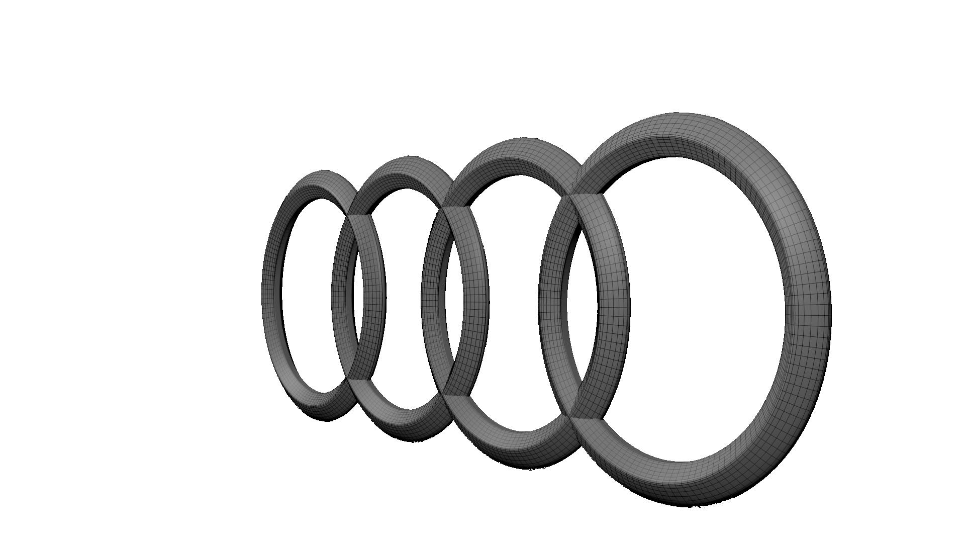 D Model Audi Logo CGTrader - Audi symbol
