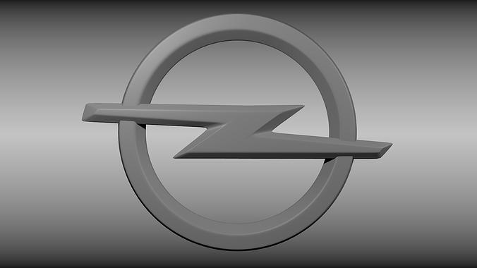 opel logo 3d model obj mtl blend 1