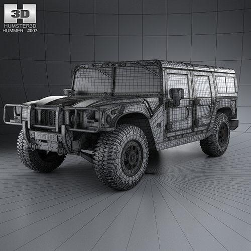 Hummer H1 wagon 2005 | 3D model