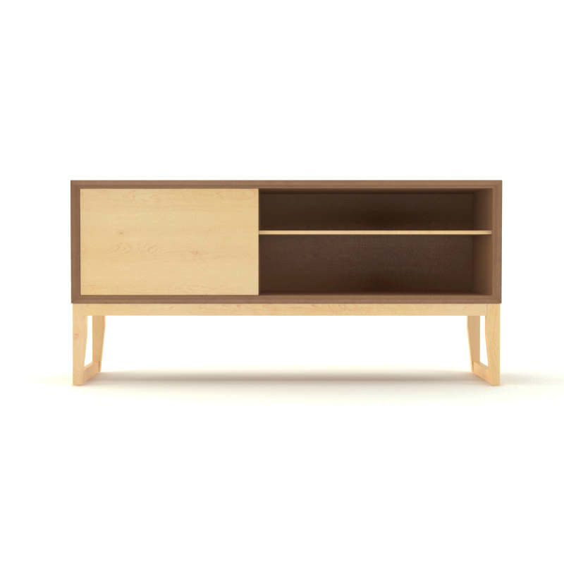 Free contemporary wooden sideboard free 3d model max obj for Sideboard 3d