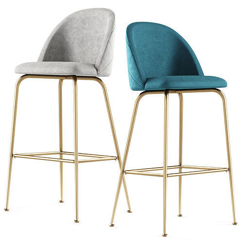 POLLY velvet counter stool