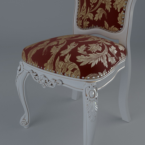 ... Baroque Style Table And Chairs 3d Model Max Obj 3ds Mtl 6 ...