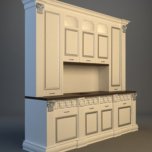 Kitchen Cabinet 3d Model Max 3ds Fbx Unitypackage Prefab 3
