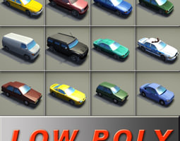 3D asset 12 Vehicle Game Collection