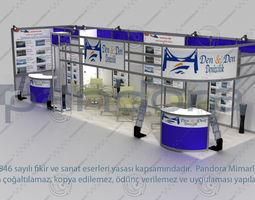 den-den exhibition stand design 3d model