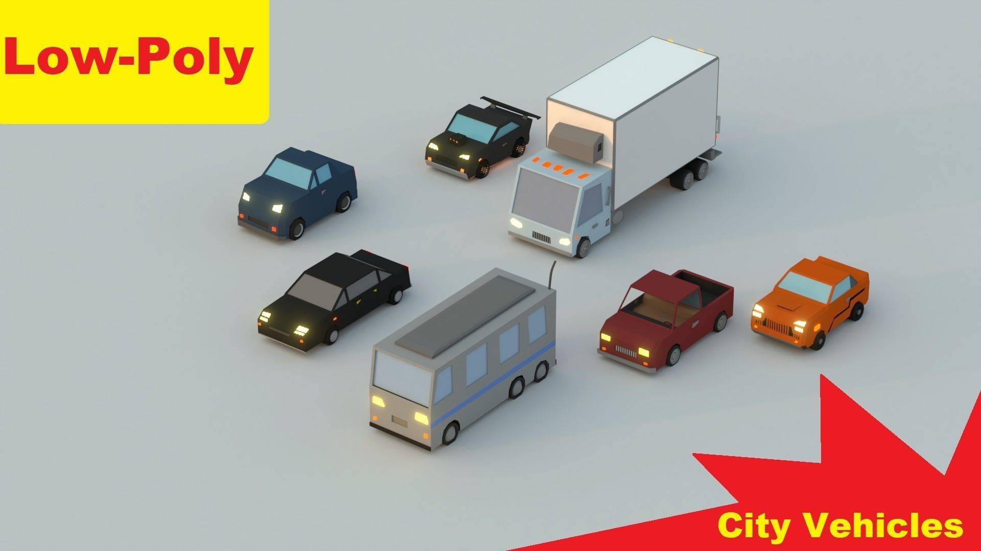 Low-Poly Rigged Vehicles Pack