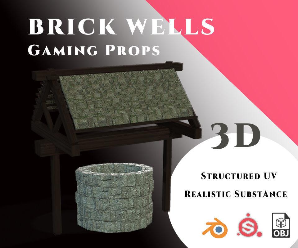Gamin Prop - Brick Well Set