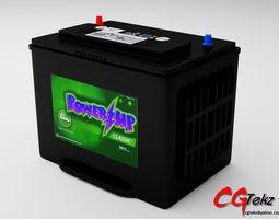 car battery generic 3d model