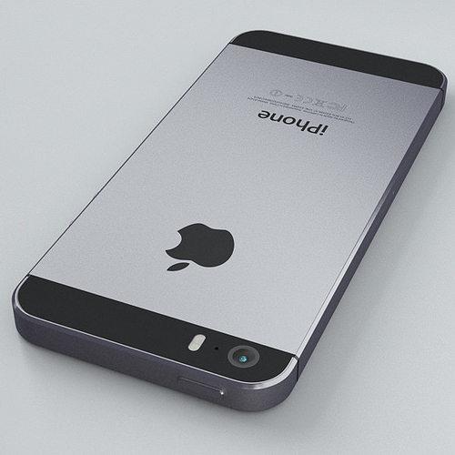 Apple Iphone 5s Space Grey 3d Model Max Obj Fbx C4d 31