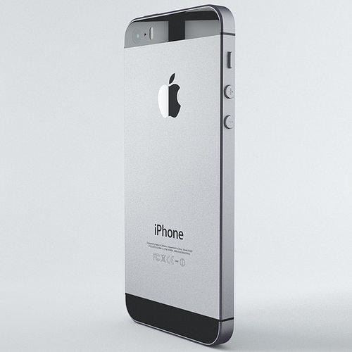 iphone 5s space grey. apple iphone 5s space grey 3d model max obj fbx c4d 7 d