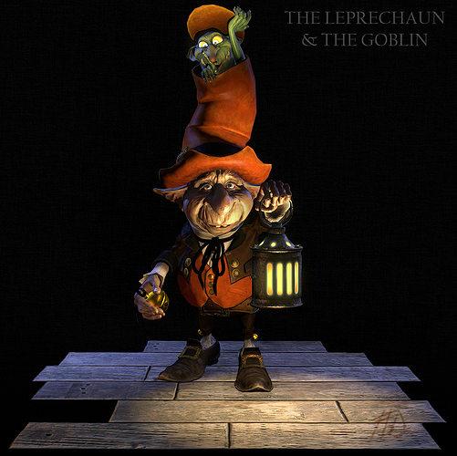the leprechaun the goblin 3d model obj mtl 1