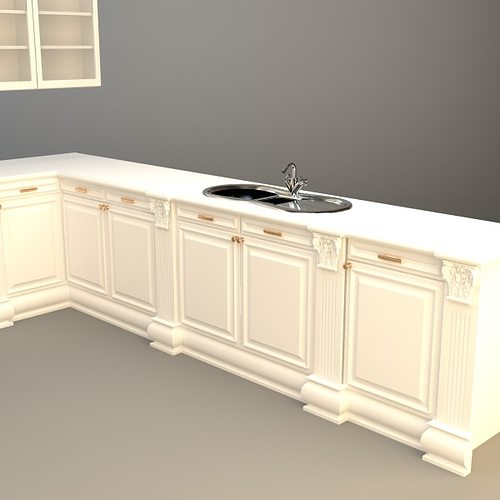 Kitchen Cabinets Appliances 3D Model MAX 3DS