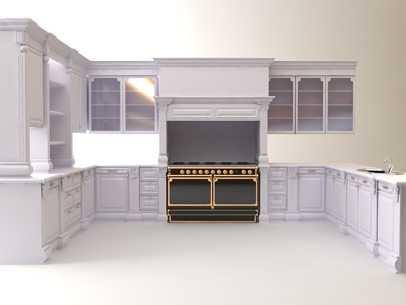 Kitchen 3D Model Impressive Kitchen Cabinets Appliances 3D  Cgtrader Design Inspiration