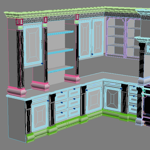... kitchen cabinets appliances 3d model max 3ds fbx unitypackage prefab 8 ...