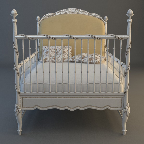 Childs bed 3d model max 3ds for 3ds max bed model