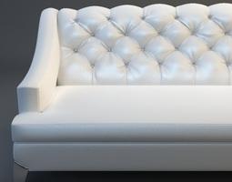 3d model white sofa tufted back