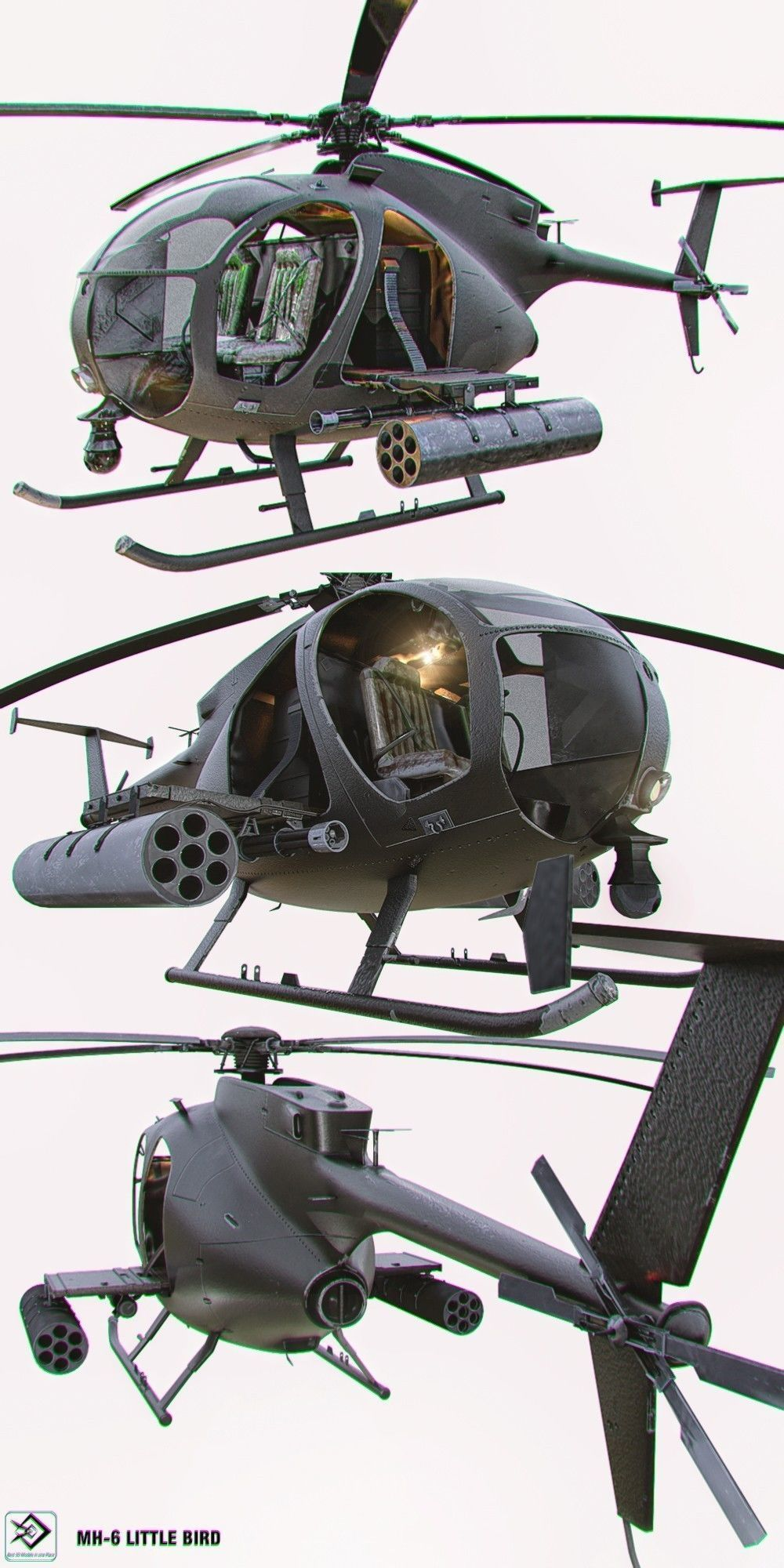 MH-6 Little Bird Helicopter