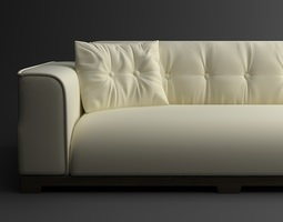classical leather sofa 3d