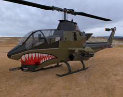 AH-1 Cobra Helicopter 3D