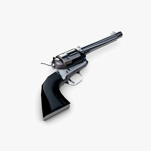 revolver 3d model low-poly max obj mtl 3ds fbx c4d dxf 1