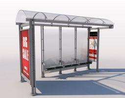 3D model Urban Bus Shelter