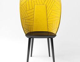 3D Chair Farg Blanche