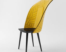 Chair Farg Blanche 3D model
