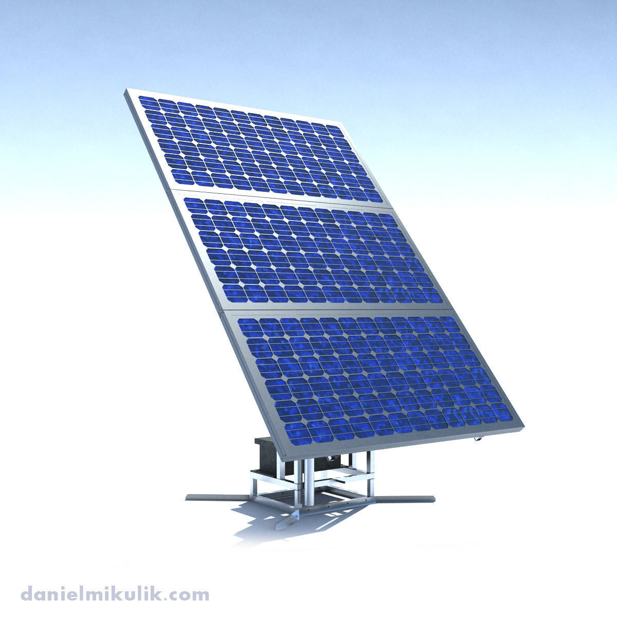 Single Stand Solar Panel RIGED