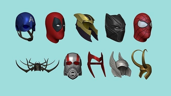 Marvel Heroes - Characters Accessories - Masks Helmets Design