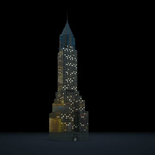 tall lightenin skyscraper 3d model obj 1