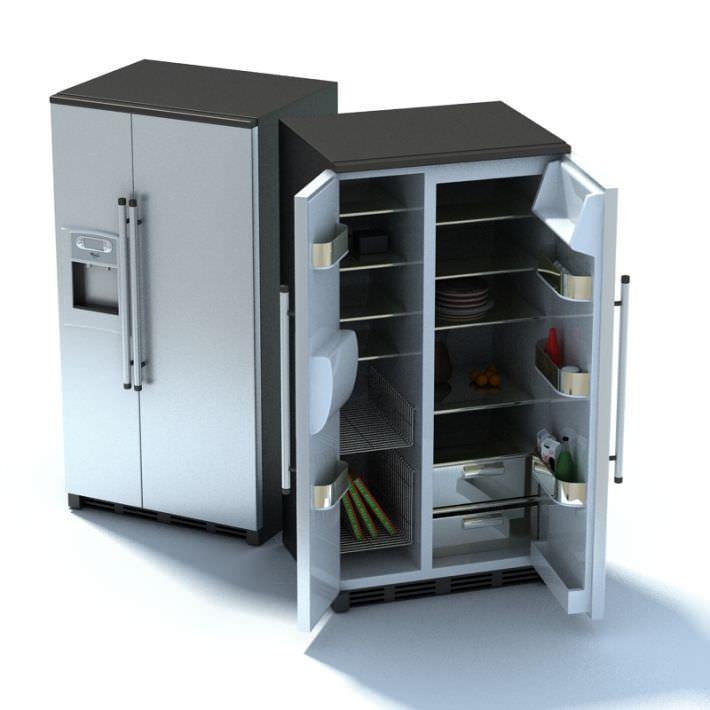Grey Compact Refrigerator