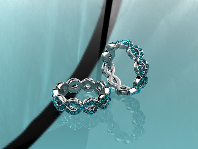silver ring with gems
