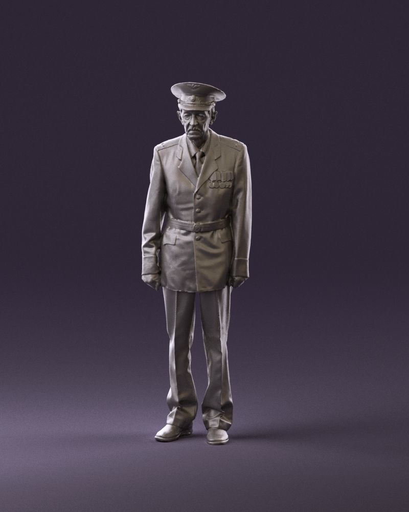 Old man in veteran suit 0915 3D Print Ready