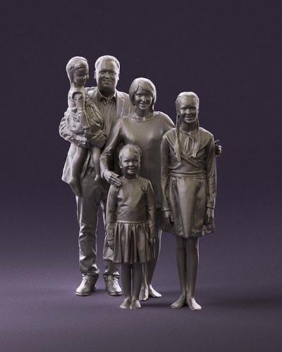 Family man woman girl teen child kid girl 0926 3D Print Ready