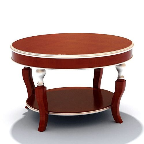 Round Hall Table 3d Model Max 1
