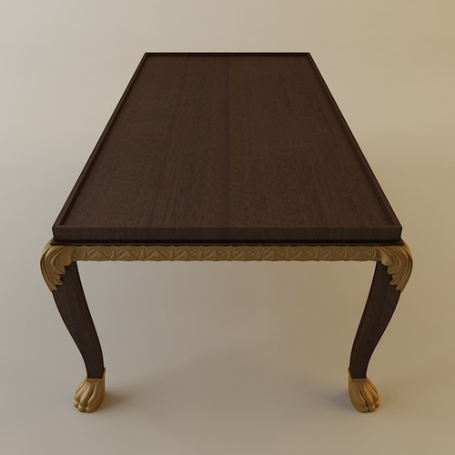 Ornate Coffee Table 3D Model MAX OBJ 3DS FBX